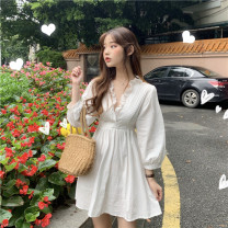 Dress Spring 2021 white Average size singleton  Long sleeves commute other other other other 18-24 years old Other / other Korean version 31% (inclusive) - 50% (inclusive) other other