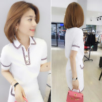 Fashion suit Summer of 2019 S M L white 25-35 years old bobowaltz Polyester 85% polyamide 15% Pure e-commerce (online only)