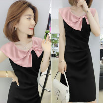 Dress Summer of 2019 Black B 05695p blue D 05075p black S M L XL Mid length dress singleton  Short sleeve commute other High waist other Socket other other Others 30-34 years old bobowaltz B192y06687p0130 81% (inclusive) - 90% (inclusive) other polyester fiber Polyester 85% polyamide 15%