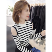 Wool knitwear Spring 2021 S M L Long sleeves singleton  Socket nylon 30% and below Regular routine Sweet easy other routine stripe Socket 30-34 years old bobowaltz Polyester 85% polyamide 15% Pure e-commerce (online only) princess
