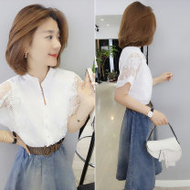 Dress Summer of 2019 Color matching S M L Middle-skirt singleton  Short sleeve commute V-neck High waist other Socket other routine Others 30-34 years old bobowaltz 81% (inclusive) - 90% (inclusive) other polyester fiber Polyester 85% polyamide 15% Pure e-commerce (online only)