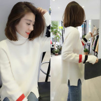sweater Spring 2021 S M L Long sleeves Socket singleton  Regular acrylic fibres 51% (inclusive) - 70% (inclusive) High collar Regular commute routine Straight cylinder bobowaltz Pure e-commerce (online only) Buckle