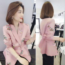 short coat Spring 2021 S M L XL Pink B light brown B Pink Long sleeves have cash less than that is registered in the accounts routine singleton  easy commute other tailored collar bobowaltz 81% (inclusive) - 90% (inclusive) B191y02110p30 polyester fiber Polyester 85% polyamide 15%