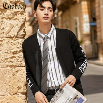 shirt Youth fashion CABBEEN / Carbene Coal black 01 routine other Long sleeves standard Other leisure summer youth Viscose (viscose) 100% Summer of 2019 Same model in shopping mall (sold online and offline)