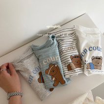 T-shirt Grey, white, blue stripe, black and white stripe, [fit, suggest a larger size] Other / other currency other Solid color Other 100% 3 months, 12 months, 6 months, 9 months, 18 months, 2 years old, 3 years old, 4 years old, 5 years old