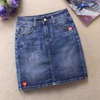 skirt Spring 2021 Xs, s, m, l, XL, 2XL, 3XL, the above suggested sizes are for reference only blue Short skirt Sweet Natural waist Denim skirt Solid color Type A 25-29 years old 51% (inclusive) - 70% (inclusive) Denim cotton Holes, pockets college
