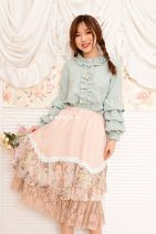 skirt Spring 2021 Average size Apricot, bean powder Mid length dress Sweet Natural waist Splicing style lattice Type H 18-24 years old 31% (inclusive) - 50% (inclusive) Lace Blue hat cotton Lace, Ruffle