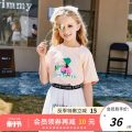 T-shirt White orange green Future star 120cm 130cm 140cm 150cm 160cm female summer Short sleeve Crew neck leisure time There are models in the real shooting nothing cotton Cartoon animation Cotton 95% polyurethane elastic fiber (spandex) 5% WLT2021033 other Summer 2021 Chinese Mainland Wuxi City
