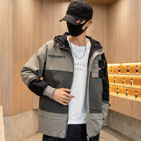 Jacket Other / other Youth fashion M. L, XL, XXL routine easy Other leisure spring Long sleeves Wear out No collar tide Large size routine Zipper placket 2020 Straight hem No iron treatment Solid color More than two bags) Side seam pocket other