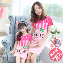 Home skirt / Nightgown Other / other Cotton 96% polyurethane elastic fiber (spandex) 4% summer female Heat preservation, moisture absorption, anti-static, anti-bacterial, moisture absorption and perspiration, at home Class B cotton