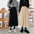 skirt Winter 2020 S, M Black, beige, apricot, coffee longuette Versatile High waist A-line skirt Solid color Type A Under 17 H9Qgp 71% (inclusive) - 80% (inclusive) corduroy Ezrin
