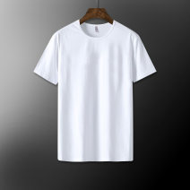 T-shirt Youth fashion B506-azt12 black b506-azt12 white b506-azt12 gray thin M L XL 2XL 3XL 4XL 5XL 6XL XS S Junefe / Junfu Short sleeve Crew neck easy daily summer B506-AZT12 Cotton 95% polyurethane elastic fiber (spandex) 5% Large size routine like a breath of fresh air Iced silk Summer of 2019