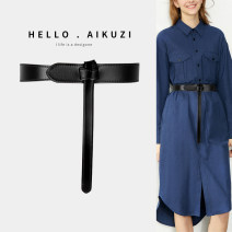 Belt / belt / chain Winter 2020 no top layer leather Versatile belt Middle aged youth Single lap female AKZ2011293081 Glossy surface Glossy surface Nude heavy line decoration frosted candy color elastic 3cm AI kuzi Black (120cm long) Brown (120cm long) Caramel (120cm long)