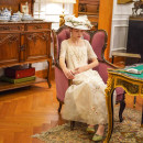 Wedding dress Off white antique embroidery pieces are not returned or replaced if they are stained Face Art