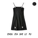 Dress Summer 2020 black S,M,L Short skirt Sleeveless One word collar Socket 31% (inclusive) - 50% (inclusive)