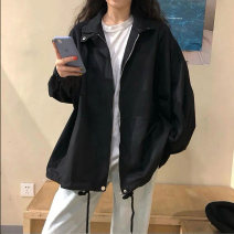 short coat Spring 2021 Average size Black with cotton apricot with cotton apricot black Long sleeves routine routine singleton  easy commute routine stand collar zipper Solid color 18-24 years old Sakami 96% and above Pocket strap button zipper skm210116-JD8990 other Other 100%