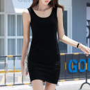 Dress Summer of 2019 S M L XL 2XL 3XL Mid length dress singleton  Sleeveless commute Crew neck Solid color other other other camisole 25-29 years old Under the cotton tree (clothing) Korean version More than 95% cotton Cotton 95% polyurethane elastic fiber (spandex) 5% Pure e-commerce (online only)