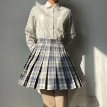 skirt Winter of 2019 S,XL,XS,L,M longuette Sweet Pleated skirt lattice 18-24 years old A gentle knife 81% (inclusive) - 90% (inclusive) other