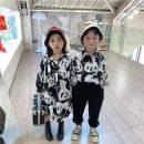 shirt Panda shirt skirt, panda short shirt Other / other female 90cm,100cm,110cm,120cm,130cm,140cm,150cm spring and autumn Long sleeves Cartoon animation cotton