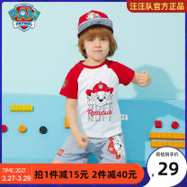 T-shirt Paw Patrol / Wangwang team makes great achievements neutral summer Short sleeve Crew neck leisure time There are models in the real shooting nothing cotton Cartoon animation Cotton 92% polyurethane elastic fiber (spandex) 8% Class B Sweat absorption Summer of 2018 Chinese Mainland