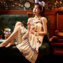 Square Dance Dress M,L,XL,2XL other Short sleeve easy longuette female pure cotton