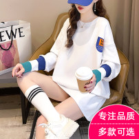 T-shirt M L XL Spring 2021 Long sleeves Crew neck easy Medium length routine commute polyester fiber 96% and above 18-24 years old Korean version originality letter Linmi Polyester 100% Pure e-commerce (online only)