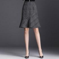 skirt Autumn 2020 S/26 M/27 L/28 XL/29 XXL/30 XXXL/31 XXXXL/32 lattice Middle-skirt commute High waist A-line skirt lattice Type A 40-49 years old JYM1903 More than 95% other Master other Ruffle zipper Korean version Other 100% Pure e-commerce (online only)