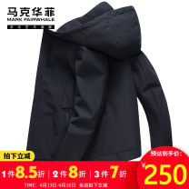 Jacket Mark Fairwhale / mark Warfield Youth fashion Black spring and autumn black thickened picture color 46 / 165 / s 48 / 170 / M 50 / 175 / L 52 / 180 / XL 54 / 185 / XXL 56 / 190 / XXXL autumn new routine standard motion spring Polyester 100% Long sleeves Wear out Hood Youthful vigor youth other
