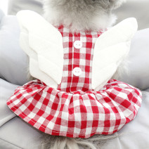 Pet clothing / raincoat currency Dress S back length 20cm suggests 1-2kg, m back length 23cm suggests 3-4kg, l back length 28cm suggests 5-6kg, XL back length 33cm suggests 7-9kg, XXL back length 38cm suggests 10-14kg Other / other princess Red, yellow