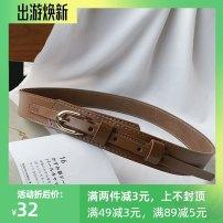 Belt / belt / chain Double skin leather female belt Versatile Single loop Pin buckle 3cm alloy Other / other