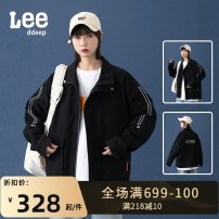 Jacket LeedDeep Youth fashion 2009 black, 2009 Khaki M,L,XL,2XL,3XL,4XL routine easy Other leisure spring Cotton 100% Long sleeves Wear out stand collar tide teenagers routine 2021 No iron treatment Closing sleeve Solid color Digging bags with lids cotton More than 95%