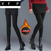 Leggings Winter of 2019 Black grey black [plush and thickened buttocks] grey [plush and thickened buttocks] grey [plush and thickened buttocks pocket] M L XL 2XL 3XL Plush trousers 51Bd67 VFP other Triacetate fiber (triacetate fiber) 100%