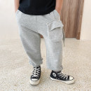 trousers Le Yue Lue male 80cm,90cm,100cm,110cm,120cm,130cm,140cm,150cm Grey, black, grey pre-sale, black pre-sale spring and autumn trousers leisure time There are models in the real shooting Sports pants Leather belt middle-waisted Don't open the crotch QK130 Chinese Mainland Zhejiang Province