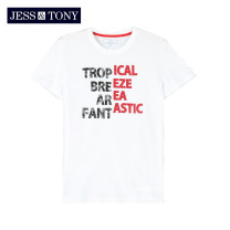 T-shirt Youth fashion Bleached black light linen grey royal blue routine S M L XL XXL XXXL JESS&TONY Short sleeve Crew neck standard daily summer MJ202T32 Cotton 100% youth routine Youthful vigor Cotton wool Summer 2020 cotton Domestic famous brands More than 95%