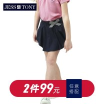 trousers JESS&TONY female 110cm 120cm 130cm 140cm 150cm 155cm Rose Pink Mint Navy light Khaki summer Pant lady There are models in the real shooting Casual pants Leather belt middle-waisted cotton Don't open the crotch Cotton 97% polyurethane elastic fiber (spandex) 3% GJ192K126 Class B