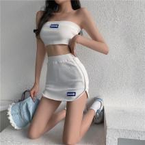 Fashion suit Summer 2020 Average size White black 18-25 years old Lanoza Triacetate fiber (triacetate fiber) 100%