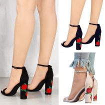 Sandals 34 35 36 37 38 39 40 41 42 43 Nude sky blue black Other / other Suede Baotou Thick heel Flat heel (1cm or less) Summer 2017 Europe and America