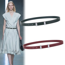 Belt / belt / chain other female belt Versatile Single loop Youth Smooth button other soft surface 3.8cm alloy Naked candy color Fonkvxn / wind dancing dust w-332-3852402 Autumn 2020
