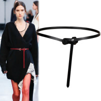 Belt / belt / chain Double skin leather Brown white red blue coffee black female belt Versatile Single loop Youth Glossy surface Glossy surface 1cm alloy Bare body frosting Fonkvxn / wind dancing dust zxz0031316944_ 3016976279146_ four thousand eight hundred and forty-five 102cm 110cm Spring 2020 no