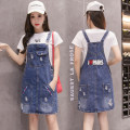 Dress Summer of 2019 navy blue S M L XL 2XL Mid length dress singleton  Sleeveless commute other middle-waisted other other straps 18-24 years old Sodoka lady Pocket strap button More than 95% other Other 100%