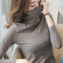 T-shirt S M L XL XXL XXXL Autumn of 2018 Long sleeves High collar Self cultivation Regular routine commute cotton 96% and above 25-29 years old Korean version classic Solid color Meiji MUCGD06 Cotton 96% polyurethane elastic fiber (spandex) 4% Pure e-commerce (online only)