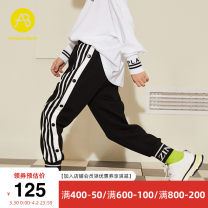 trousers AB (mother infant) male 110cm 120cm 130cm 140cm 150cm 160cm Black Plush spring and autumn trousers leisure time There are models in the real shooting Casual pants Leather belt middle-waisted other Don't open the crotch Cotton 100% T-A193-005501 Class B Spring 2020