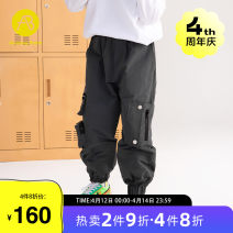 trousers AB (mother infant) male 110cm 120cm 130cm 140cm 150cm 160cm grey spring and autumn trousers leisure time There are models in the real shooting Casual pants Leather belt middle-waisted other Don't open the crotch Polyamide fiber (nylon) 100% T-A211-002803 Class B Spring 2021