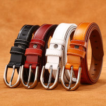Belt / belt / chain Double skin leather female belt Versatile Single lap Young and middle aged Pin buckle Geometric pattern Patent leather alloy 2.3cm alone Mingmu M8815 Autumn and winter 2018 yes Reddish brown black red brown earthy yellow white 95cm 100cm 105cm 110cm 115cm 120cm