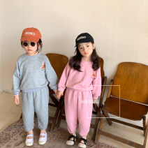 suit Other / other Grey, pink 80cm,90cm,100cm,110cm,120cm,130cm neutral spring and autumn leisure time Long sleeve + pants 2 pieces routine There are models in the real shooting Socket nothing Solid color cotton elder Expression of love other Other 100% Chinese Mainland Zhejiang Province Hangzhou