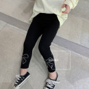 trousers Other / other female 140cm,130cm,120cm,110cm,100cm,90cm black spring and autumn trousers Korean version There are models in the real shooting Leggings Leather belt middle-waisted cotton Don't open the crotch Other 100% other Chinese Mainland Zhejiang Province Hangzhou