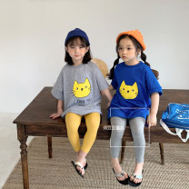 Dress Blue, gray female Other / other 90cm,100cm,110cm,120cm,130cm,140cm Other 100% summer Korean version Short sleeve Cartoon animation cotton A-line skirt other 18 months, 2 years old, 3 years old, 4 years old, 5 years old, 6 years old, 7 years old Chinese Mainland Zhejiang Province Hangzhou
