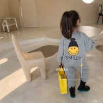 suit Other / other grey 140cm,130cm,120cm,110cm,100cm,90cm female spring and autumn Korean version Long sleeve + pants 2 pieces routine There are models in the real shooting Socket nothing Solid color cotton elder Expression of love other Other 100% Chinese Mainland Zhejiang Province Hangzhou