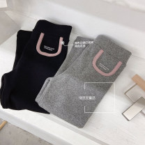 trousers Other / other female 90cm,100cm,110cm,120cm,130cm,140cm Black, gray spring and autumn trousers leisure time There are models in the real shooting Leggings Leather belt middle-waisted cotton Don't open the crotch Cotton 100% other Chinese Mainland Zhejiang Province Hangzhou