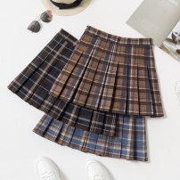 skirt Winter 2012 S M L XL 2XL Short skirt commute High waist Pleated skirt lattice Type A 18-24 years old Wool Boumanteau Pleated zipper Korean version Pure e-commerce (online only) 401g / m ^ 2 (inclusive) - 500g / m ^ 2 (inclusive)